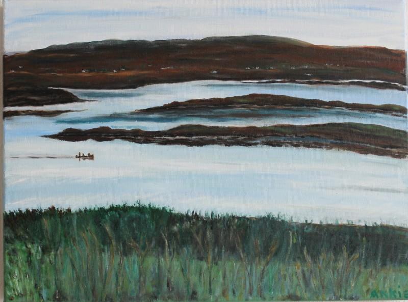 Schotland,bootje op het Loch, verkocht