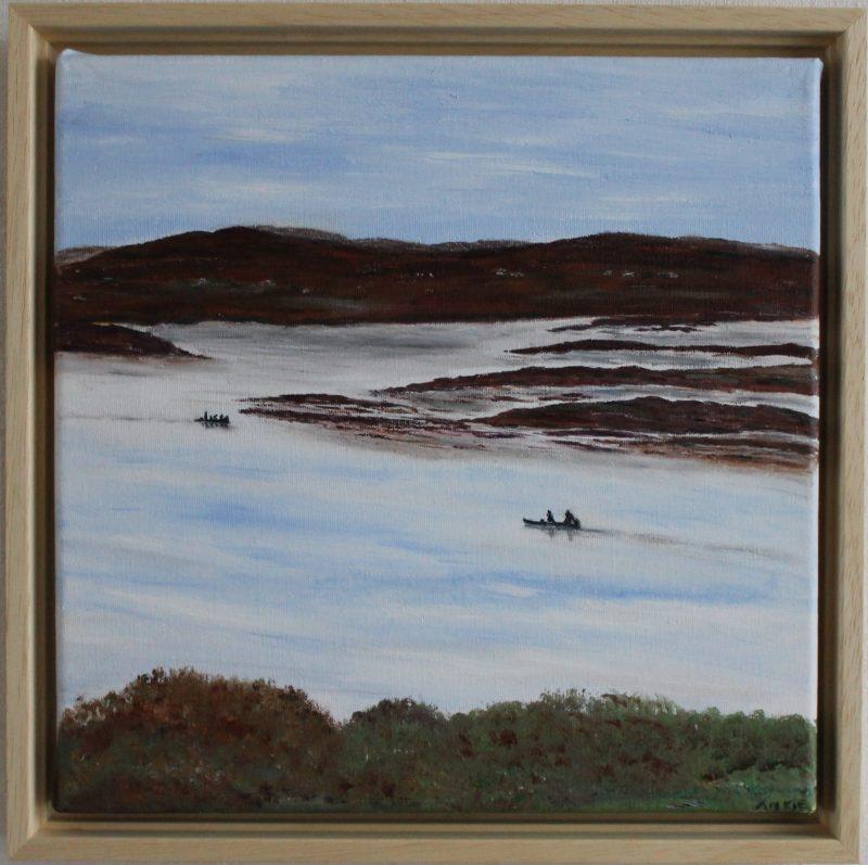 Bootjes op het Loch, Schotland, te koop